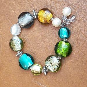 Silpada Glass Bead Stretch Bracelet